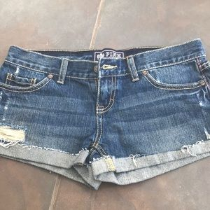 NWOT PINK Victoria's Secret short denim shorts 0